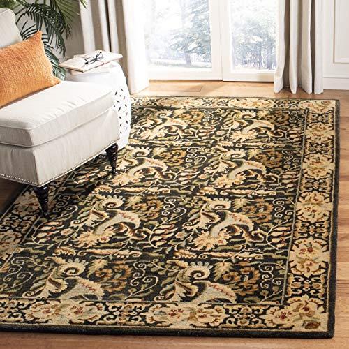 Safavieh Bergama Collection BRG107B Handmade Charcoal Premium Wool Area Rug (4' x - Collection Bergama 4'
