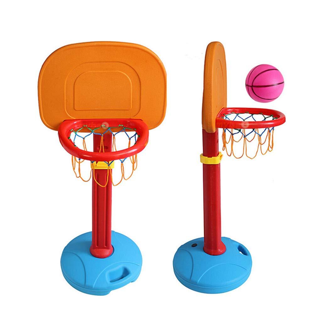 Guoyajf Kids Basketball Hoop Toddlers Toys - Stands Y Objetivos De Baloncesto Ajustables, para Uso En Interiores, Al Aire Libre, con Red Y Mini Bola, 3 Niveles De Altura Ajustable hasta 160 Cm