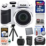 KODAK PIXPRO AZ421 Astro Zoom Digital Camera (White) with 32GB Card + Case + Battery/Charger + Flex Tripod + Kit