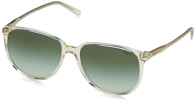 Polo Ralph Lauren Damen 0Ph4097 50348E 54 Sonnenbrille, Grau (Vintage Grey Pinot/Green)