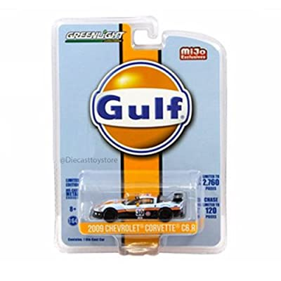 Greenlight 51128 2009 Chevrolet Corvette C6 R #30 Gulf Oil Racing Limited Edition of 2760 1/64 Diecast Model Car: Toys & Games [5Bkhe1801475]