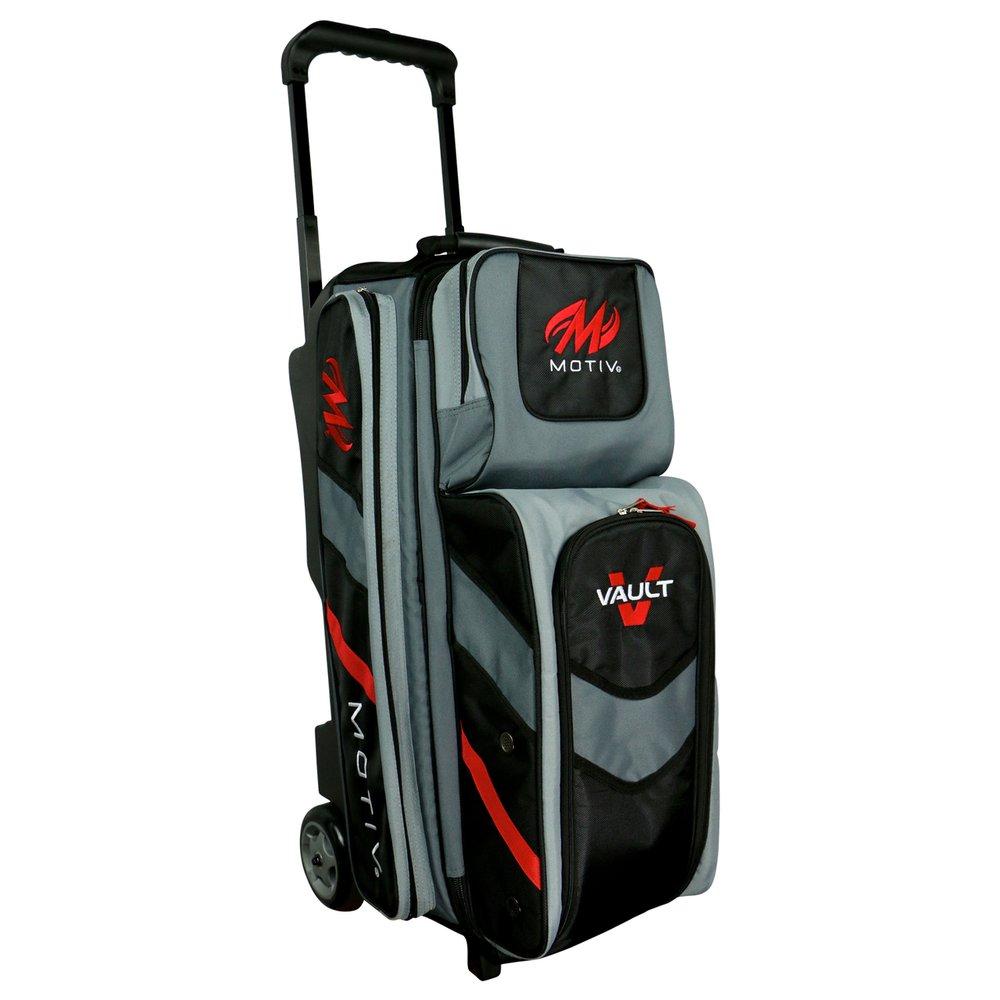 MOTIV Vault 3 ball roller Bowling Bag Black/Grey/Red