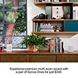 Two Room Set with All-New Sonos One - Smart Speaker with Alexa Voice Control Built-in. Compact Size with Incredible Sound for Any