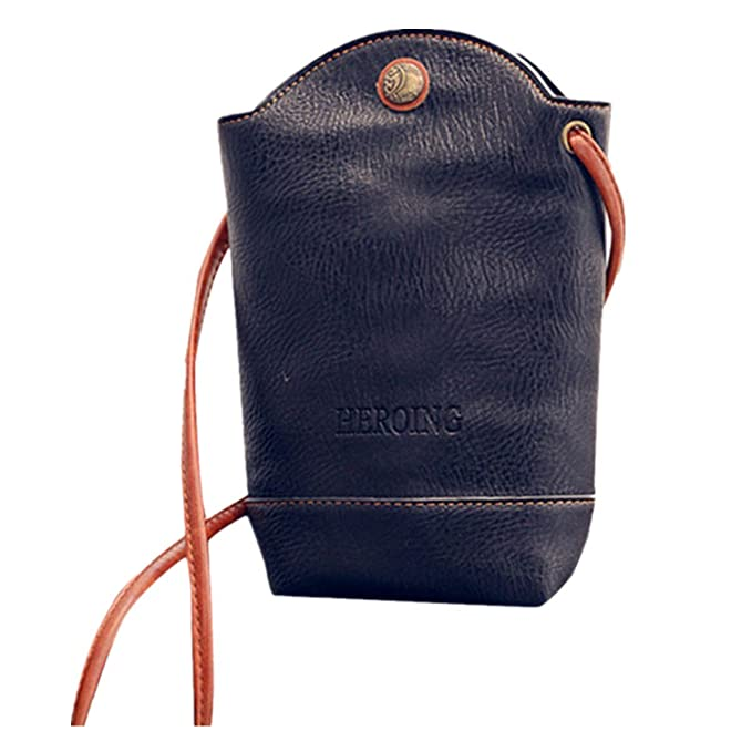 Women Wallet Purse Shoulder Bag PU Leather Coin Cell Phone Mini Crossbody Bag W0