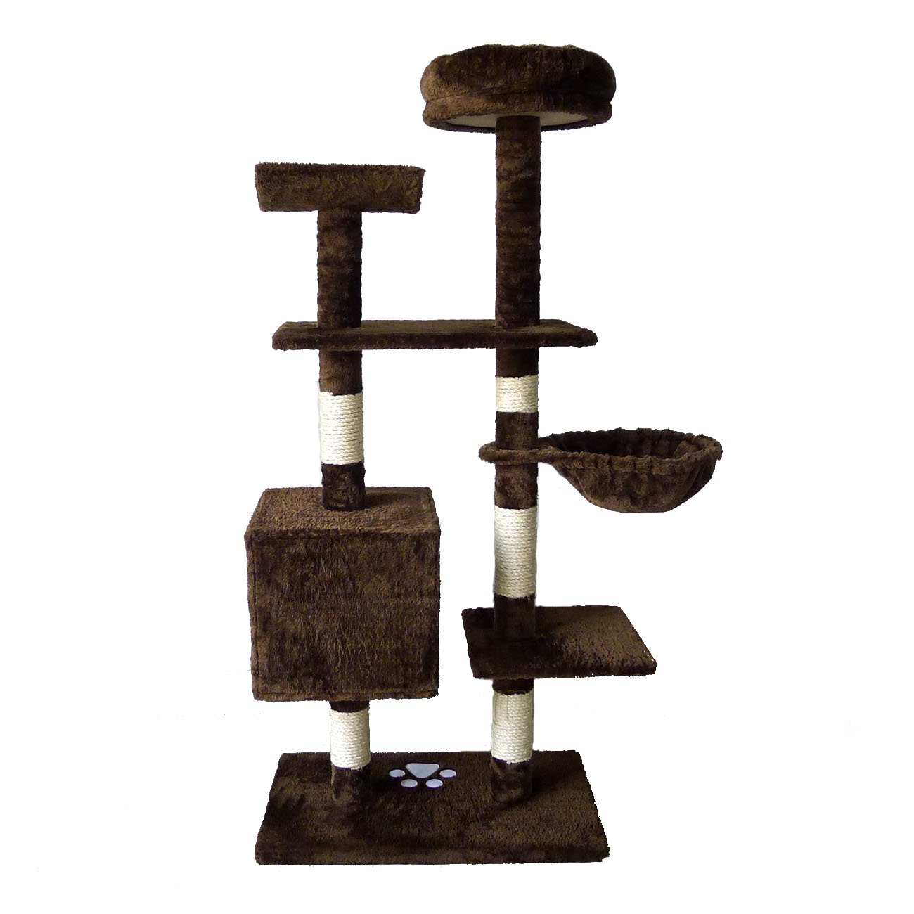 OTLIVE 53'' Cat Tree Condo Tower Scratcher Post Furniture Kitten Toy House (Brown)