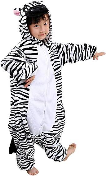 Kigurumi Unisexo Niños Animal Pijamas Carnaval Halloween Navidad Cosplay Disfraz Zebra