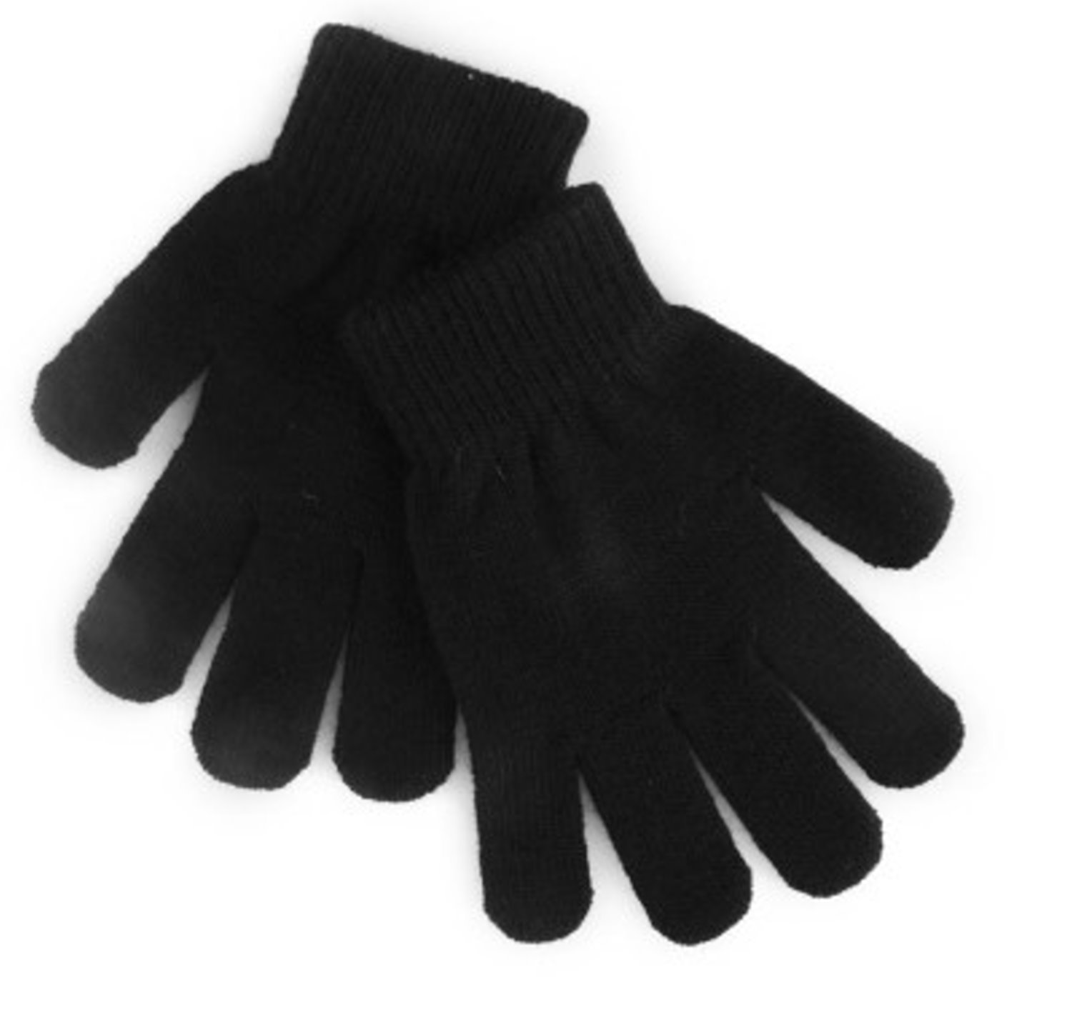Childrens black leather gloves - 12 Pairs Childrens Black Magic Winter Gloves One Size