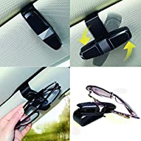 Ashero 2 Pack Glasses Holders for Car Sun Visor Silver Sunglasses Hangers Double-Ends Clip with Ticket Card Clip