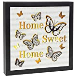 Large Home Sweet Home Light Up Box with Butterfly Design