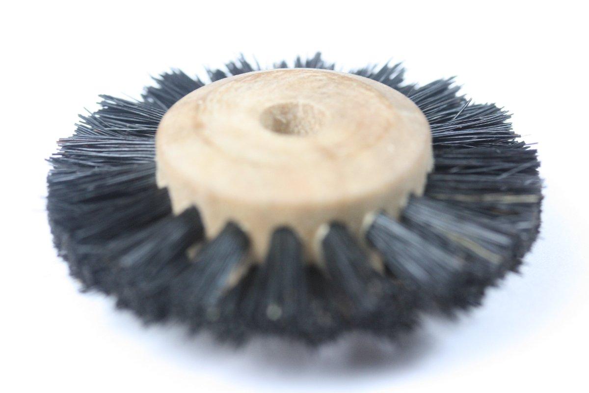 Garreco 734B122 Dental Denture Polishing Brush Wheel, Wood Hub, Rotary Instrument (Pack of 12)