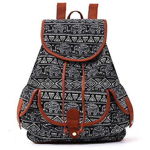 Giorno Ragazze Canvas Le Scuola Bag Casual Pack Vintage Donne Sport Donna Zaino Ginli Modacanvas Da Book Backpack Viaggio Ragazzi K Per Cartella SfnRw