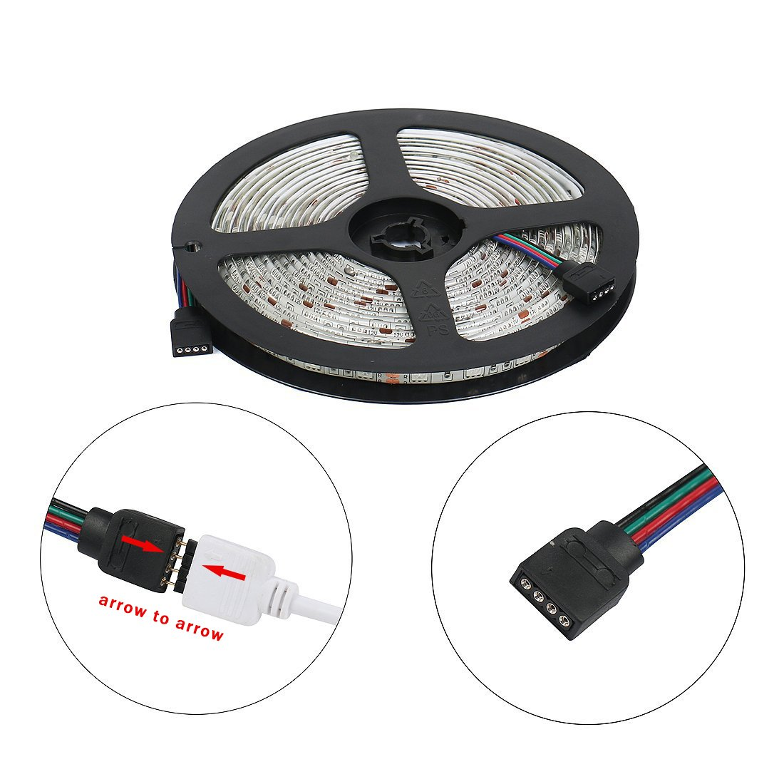 RC LED Strip lights 32.8ft Waterproof Flexible SMD5050 300LEDs with 44Key Remote 12V Power Adapter for Party Holiday Home and Outdoor by RC (Image #4)