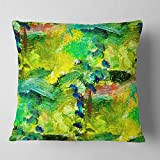 Designart CU6394-16-16 Africa Green Texture' Abstract Throw Cushion Pillow Cover for Living Room, Sofa, 16 in. x 16 in, Pillow Insert + Cushion Cover Printed on Both Side