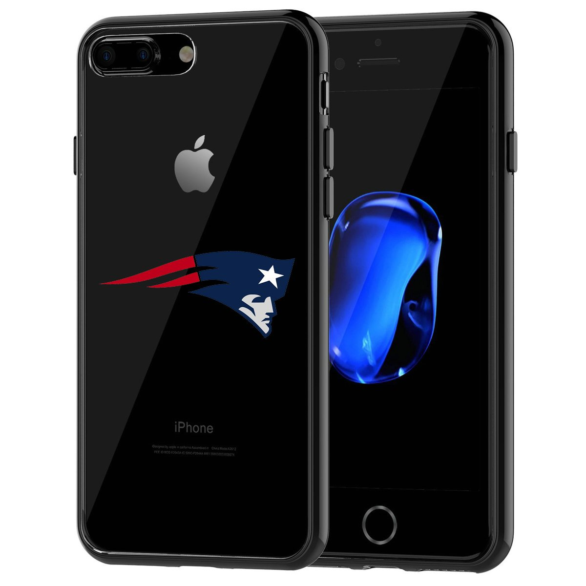 iPhone 7 Plus Tough Case, Shock Absorption TPU + Translucent Frosted Anti-Scratch Hard Backplate Back Cover for iPhone 7 Plus- Black DesignerCases