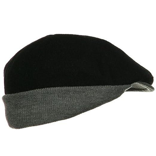 UBI NYH Warmer Flap Wool Ivy Cap - Black Grey at Amazon Men s Clothing  store  Newsboy Caps 8ed826b7fb9a
