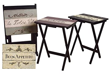 Perfect Cape Craftsman TV Tray Set With Stand, Cucina, Set Of 4