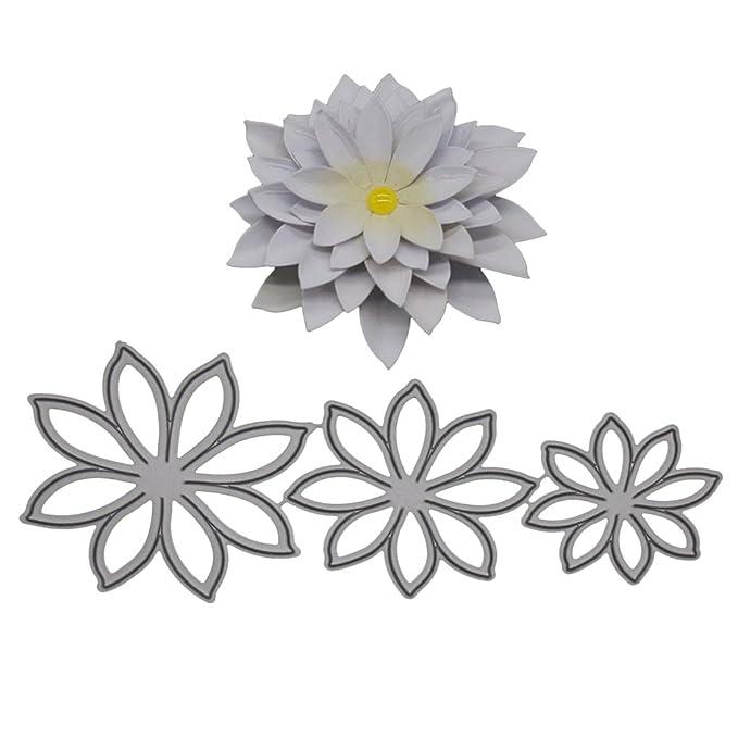 Sunlera Flor del Narciso de Bricolaje para la embutición Plantillas Tarjetas de Corte Tarjeta de cumpleaños decoración de Metal de Acero fileteado: ...