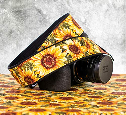 Camera Strap, Sunflower 330 dSLR SLR Mirrorless ()