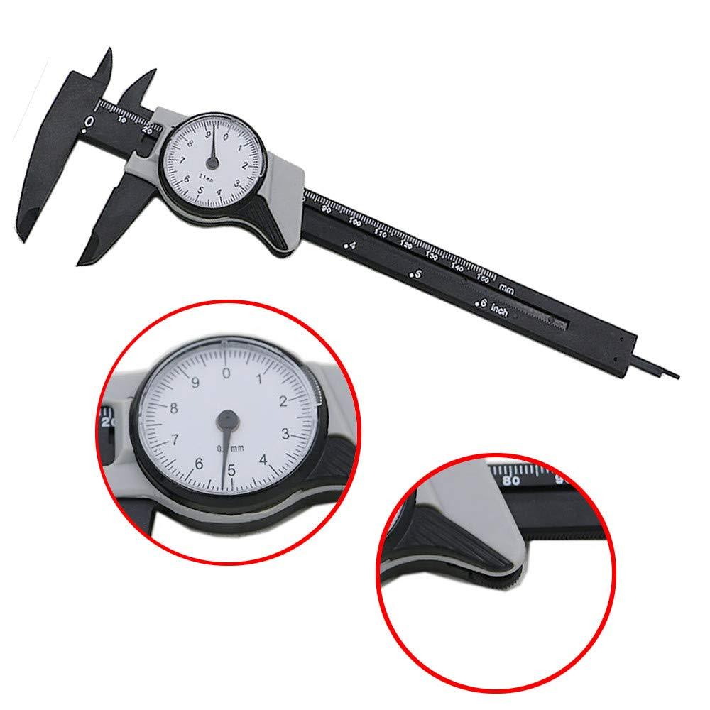 Digital Caliper,Y56 LCD Digital Electronic Carbon Fiber Vernier Caliper Gauge Micrometer,150mm//6inch