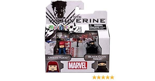 Marvel Minimates The Wolverine Series 52 Mini Figure 2-Pack Urban Yukio & Black Clan Ninja