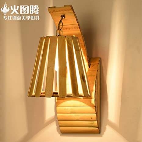 Cghyy Modern Indoor Decoration Wall Lamps Creative Wooden Art Deco
