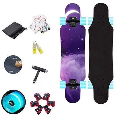 JLZS-skateboard Monopatín de Cuatro Ruedas para Principiantes de niños Monopatín para niños de Principiantes