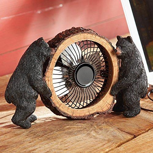Black Bear Table Fan - OVERSTOCK
