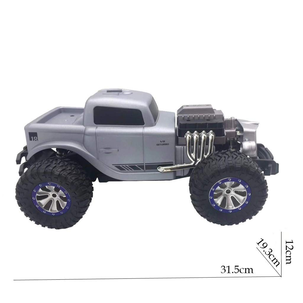1/18 Scale RC Rock Crawler 4WD Off Road RC Truck 2.4Ghz 20KM/H High Speed Remote Control Monster Truck Desert Buggy RC Car for Ages 14+ by DaoAG (Image #4)