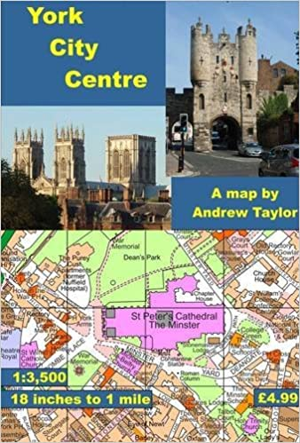 York City Centre Map York City Centre Map: 18 Inches to 1 Mile (City Centre Maps) by