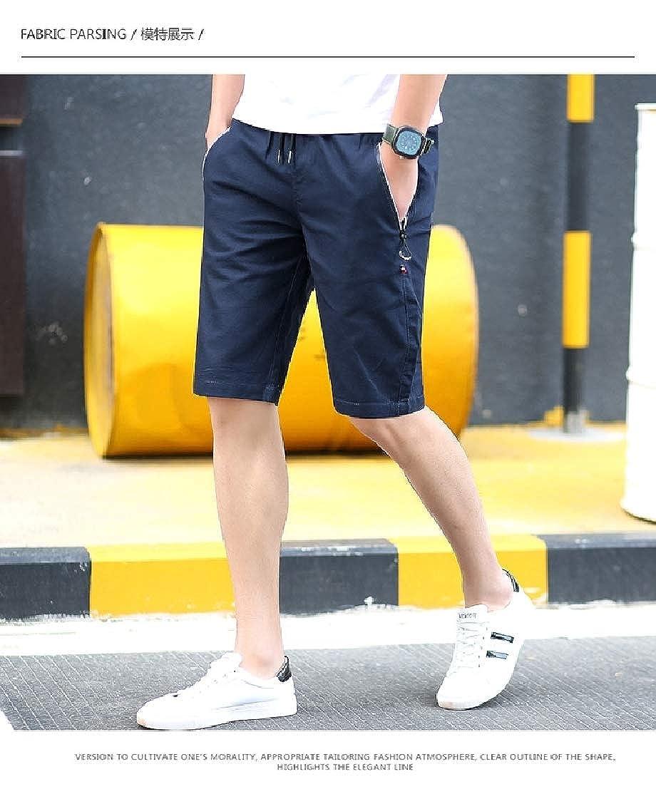 FieerMen Big Pockets Sports Solid Color Plus Size Mini Shorts Hot Pants