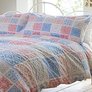 Vintage Patchwork Single Bettwäsche 100 Baumwolle Marokkanischer