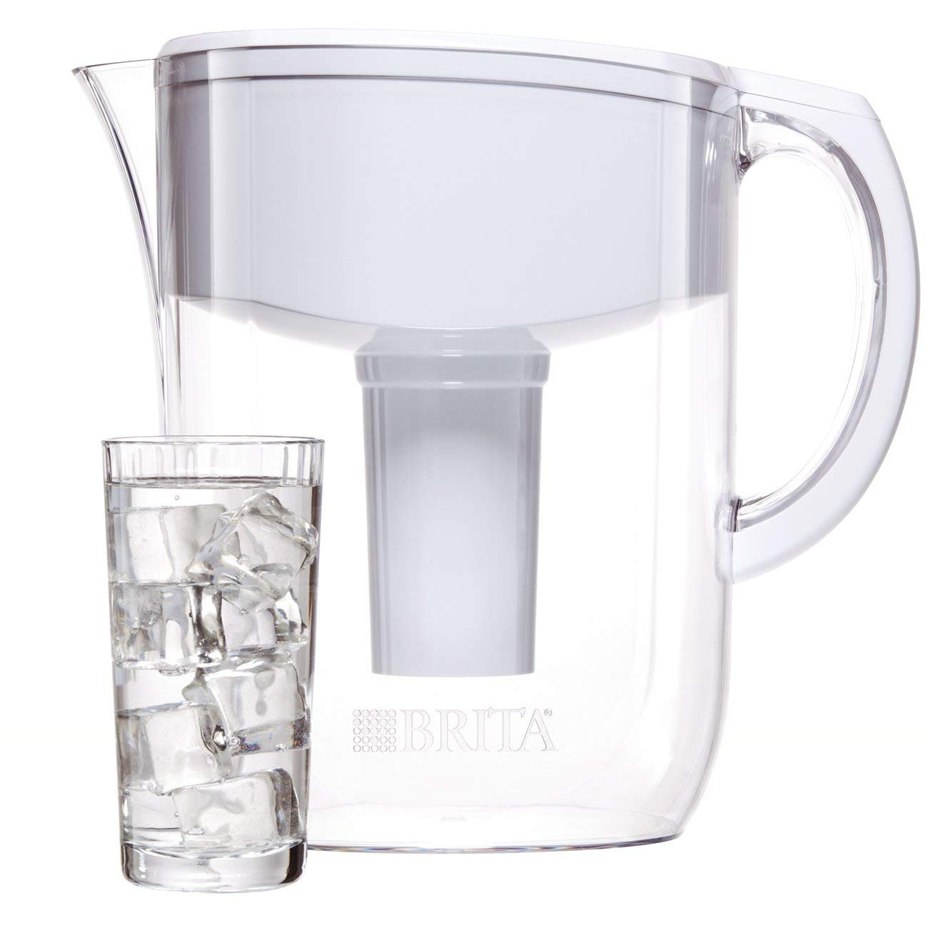 Brita Large 10 Cup Everyday Water Pitcher with Filter - BPA Free - White by Brita (Image #7)