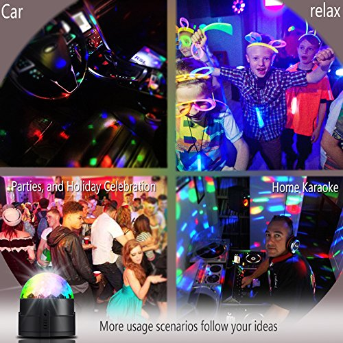 Large Product Image of Spriak Led Disco Ball Party Lights 2nd Generation Strobe Dance Light 3w DJ Lights for Parties 7 Color Sound Activated Lamp Karaoke Machine Kids Birthday Stage Home Holiday Party Supplies