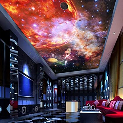 3d Mural Wallpaper Galaxy Starry Nebula Ceiling Custom Large