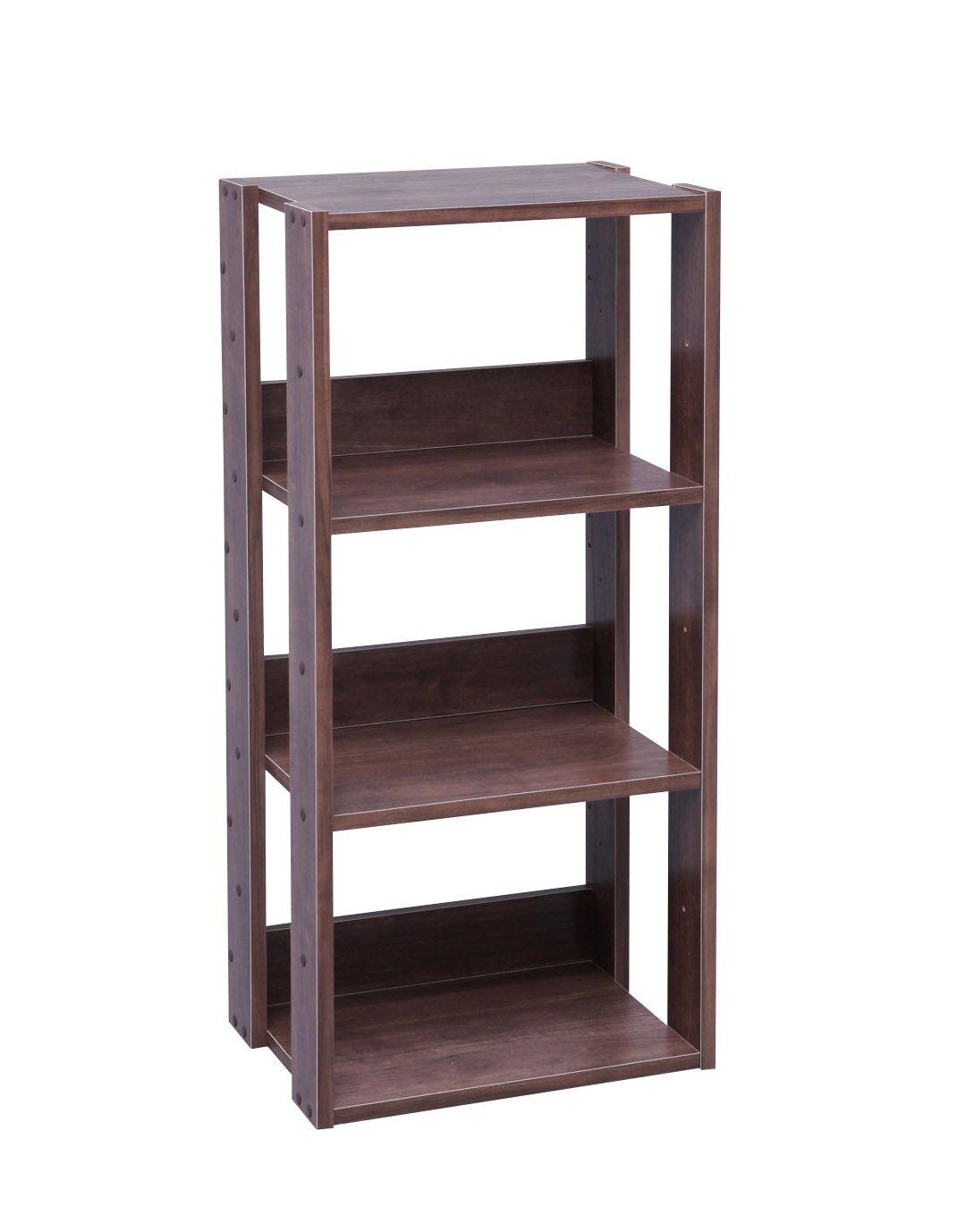 IRIS USA 3-Tier Open Wood Bookshelf, Dark Brown by IRIS USA, Inc.