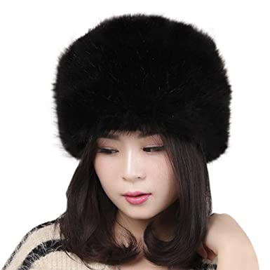 c687d2ac6e9 Women Ushanka Hat Ladies Luxury Winter Snow Hat Cossack Russian Fluffy  Round Cap Youth Girls Thicken