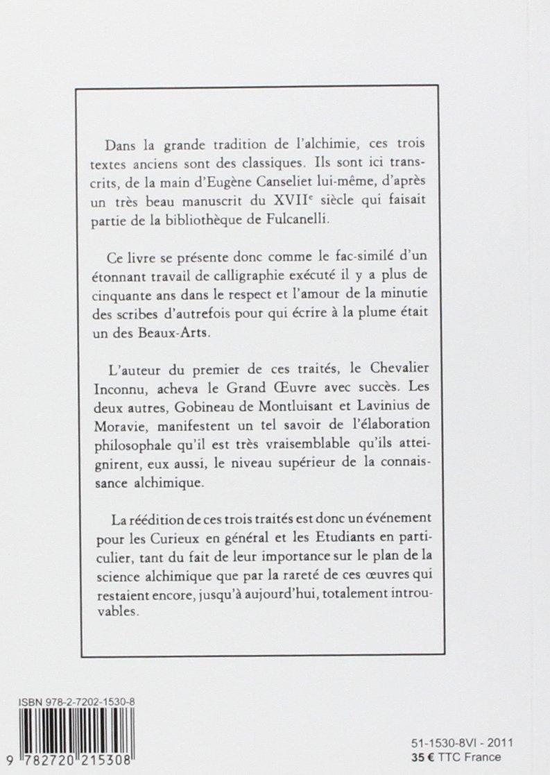 Amazoncom Trois Anciens Traites Dalchimie 9782720215308