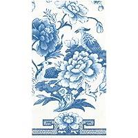 Caspari Blue & White Paper Guest Towel Napkins - Two Packs of 15