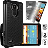 LG G Stylo (LG G4 Stylus LS770) Cyber Defender Case by ElBolt ® - Black with Free HD Screen Protector