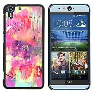 """Pulsar Snap-on Series Teléfono Carcasa Funda Case Caso para HTC Desire Eye ( M910x ) , Hippie colorido Rosa Amarillo"""""""