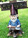 Atlantic Collectibles Cozy Whimsical Garden Grumpy Grinchy Gnome Dwarf Not Welcome Statue Patio Outdoor Poolside Figurine As Magical Guest Greeter Decorative For Sale