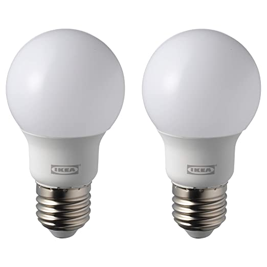 IKEA RYET E27 - Bombillas LED (2 unidades, 600 lúmenes, 5000 K)
