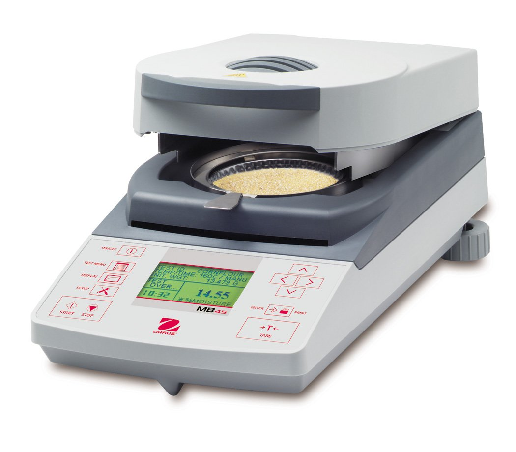 Ohaus MB45 MB Series Advanced Moisture Analyzer with Halogen Lamp, 45g Capacity, 0.001g Readability