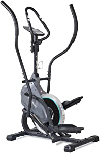 MaxKare Elliptical Climber Exercise Trainer Machines Cardio Stepping Training Magnetic Flywheel 3PCS Crank LCD Monitor 220 LBS Max Weight for Home Indoor Use