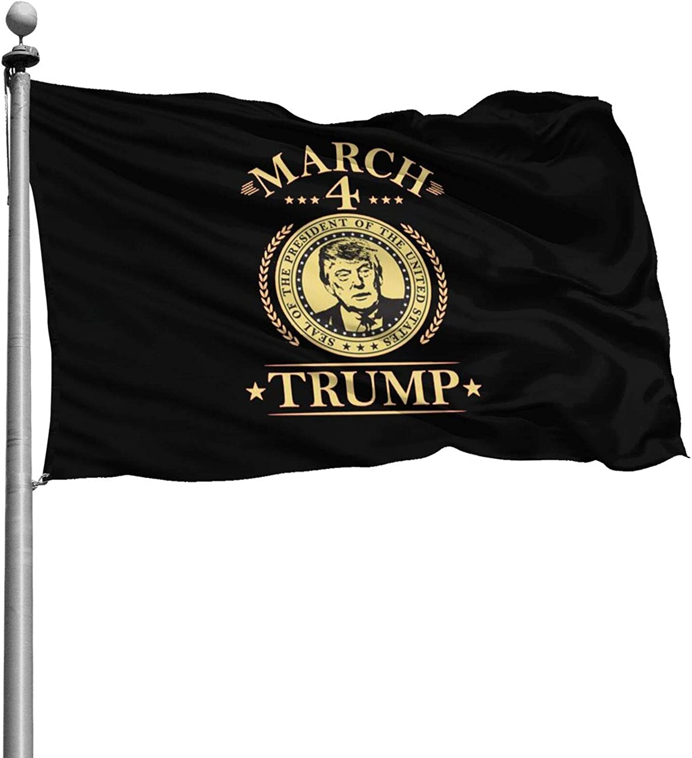 Opplsh Hdrejn March 4 Trump The Flag is 4x6 Feet, Polyester Double Stitched Outdoor and Indoor Home Decoration.