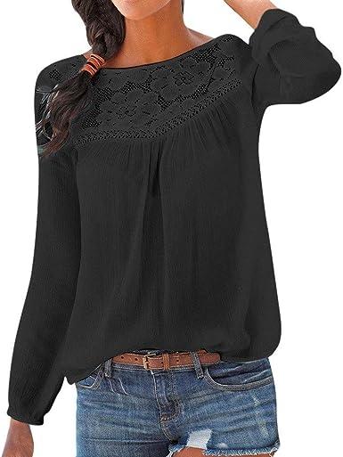 Blusas De Mujer con Blusa De Encaje Blusas De Camisa Moda Moda Completi para Mujer Primavera Tops De Manga Larga Hermosas Blusas para Blusa De Encaje para Mujer Verde: Amazon.es: Ropa y