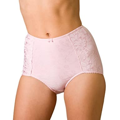 8b07a051355b Camille Womens Ladies Serenity Jacquard Light Control Shapewear Support  Briefs Pink Size 10-24: Amazon.co.uk: Clothing