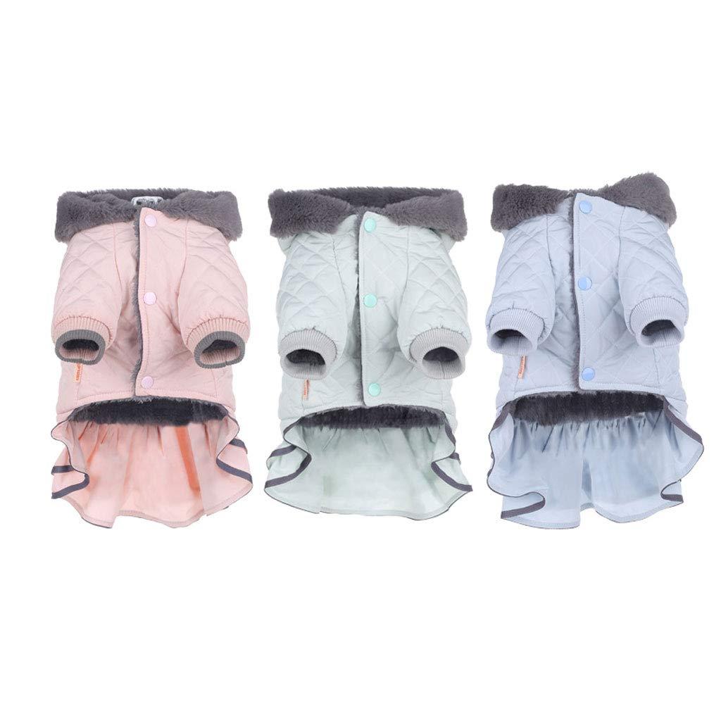 M Yingui Pet Clothes, Cat Clothing, Cute Pet Clothes, Pet Hooded Jacket, Three-piece Suit (Size   M)