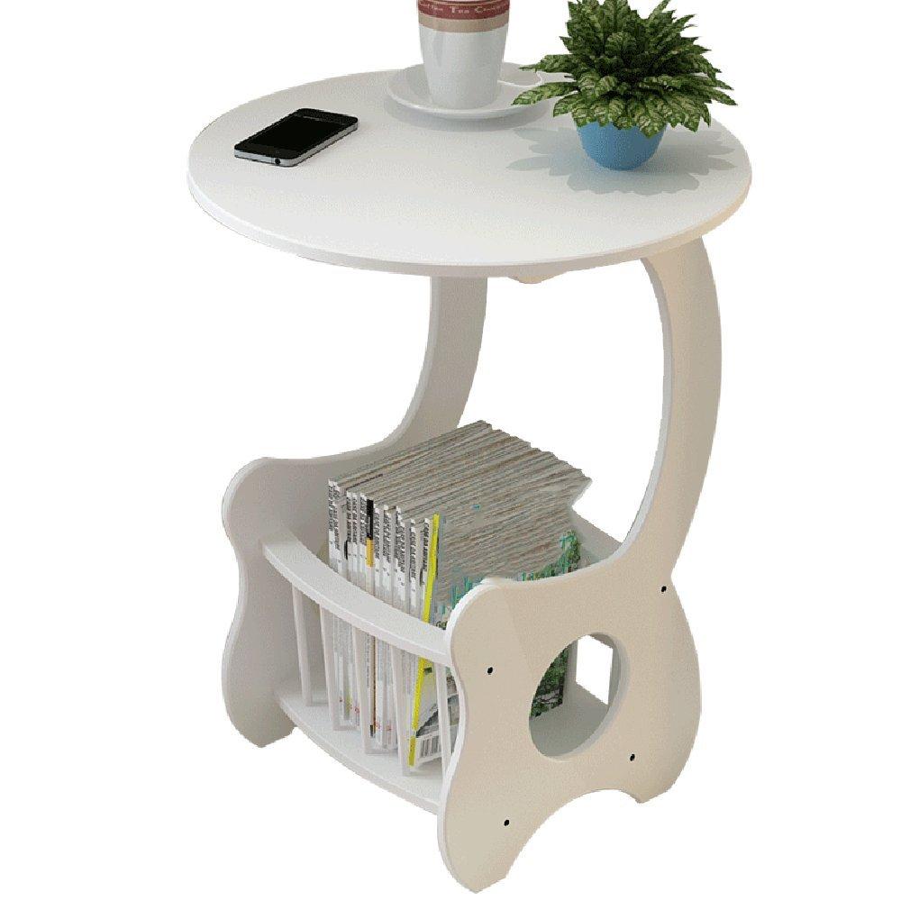 XIA 折り畳みテーブル ラウンドサイドテーブルコーヒーテーブルサイドテーブルCタイプテーブルコーナーテーブル 折りたたみテーブル B07F69KV2T