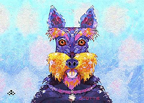 Scottie Dog L by Fernando Palma Art Print, 16 x 11 inches - Scottie Dog Art
